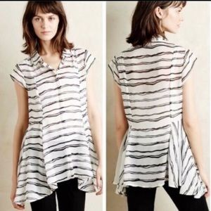 Anthropologie Meadow Rue Walking Tour Tunic Top S